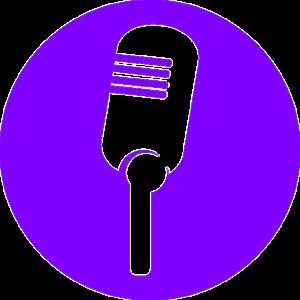Mikro symbol in lila Kreis