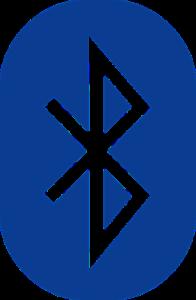 Das Bluetooth Symbol, wie es auch bei einem kabellosen Bluetooth Gaming Headset vorkommt.